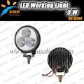 2016 novo 9 W LEDs luz de trabalho 9 w LED de alta intensidade de Condução luz da lâmpada led spot/inundação feixe de luz offroad conduziu a lâmpada de trabalho
