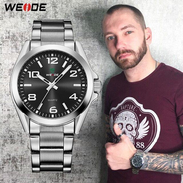 WEIDE Business Men Stainless Steel Band Quartz Analog Back Light Wristwatch saatler horloges orologi Relogio Masculino drop shipWEIDE Business Men Stainless Steel Band Quartz Analog Back Light Wristwatch saatler horloges orologi Relogio Masculino drop ship