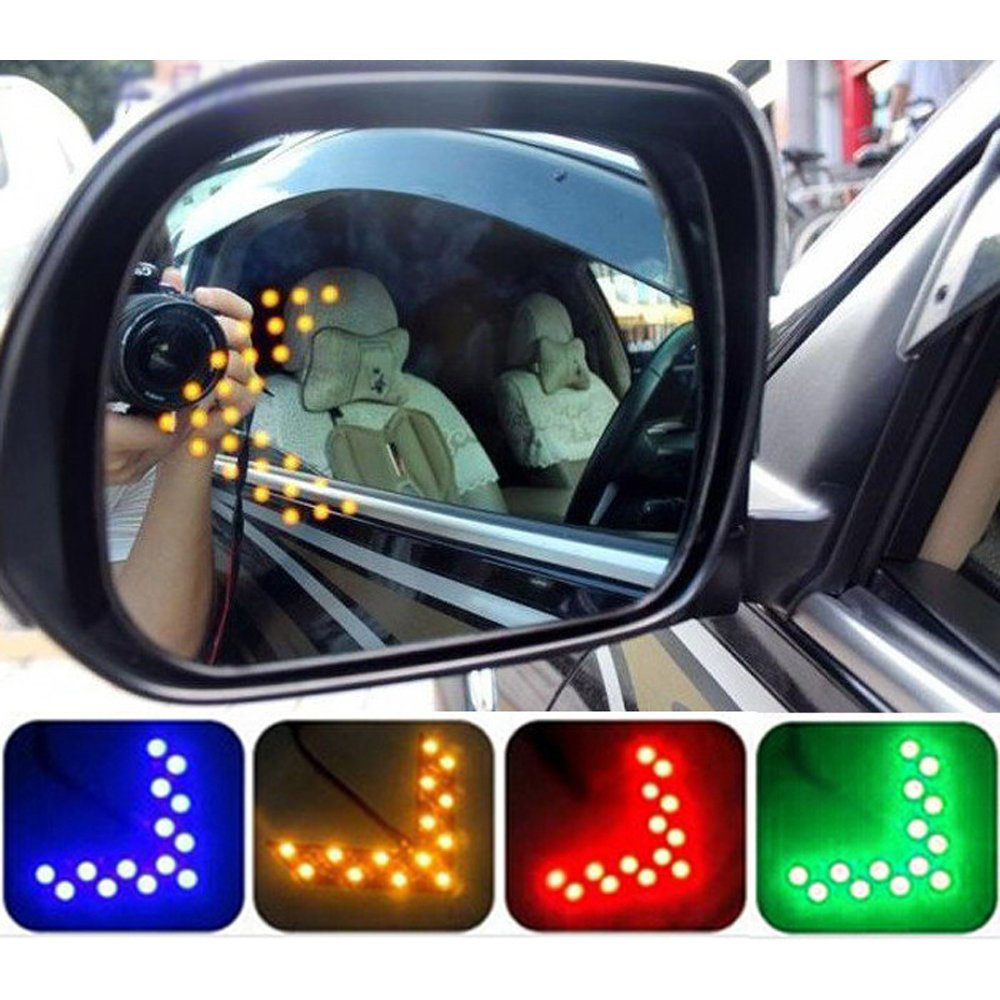 2 X Car RearView Mirror Indicator Turn Signal Light 14 SMD LED Arrow Panel Led Parking for Ford Focus Vw Skoda Bmw E39 Kia Opel