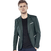 Male Blazer New Men's Clothing Houndstooth Male Spring Fashion Casual Suit Blazer Slim Fit Men