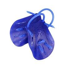 New Sale Pair Dark Blue Plastic Swimming Hand Paddles Webbed Gloves