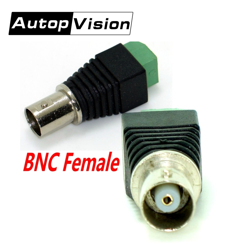 Freeshipping 100pcs/Lot  Coax CAT5 Cat6 To CCTV Camera BNC Female Connector, BNC Connector Plug For CCTV Cable