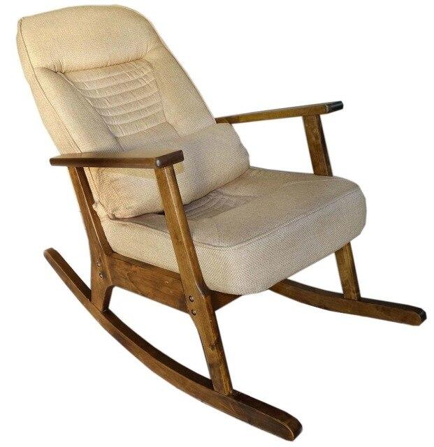 Holz Schaukelstuhl Für Ältere Menschen Japanischen Stil Schaukelstuhl Liege  Sessel Erwachsene Armlehne Schaukelstuhl Kissen