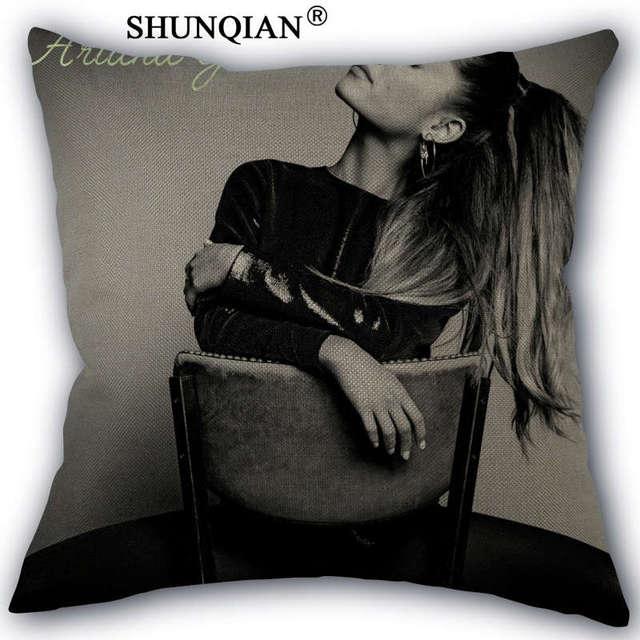 Linen Cotton Ariana Grande Pillow Cover Custom Print Home Decorative Pillows Cases 45x45cm one side WZ51656