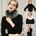 Moda Para Mujer de invierno faux fur imitado bufanda capa de piel de conejo cuello de piel chal círculo loop bufanda del calentador del cuello