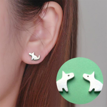 Punk Small Dog Stud Earrings
