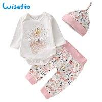 детская одежда для девочек до 2 года детский осенний и зимний комплект костюм+брюки+шапка одежда для новорожденных