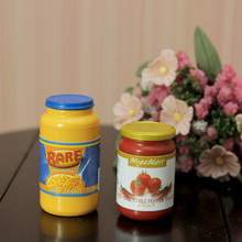 G06-X716 children baby gift Toy 1:12 Dollhouse mini Furniture Miniature rement Peanut butter and pepper sauce 2pcs