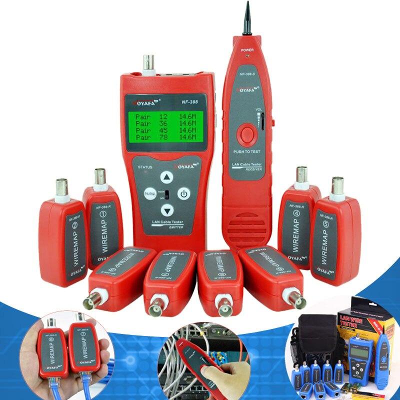 NF-388 Netzwerk coax Handheld kabel tester Ethernet Draht tester Telefon Multifuctional Fernbedienung...