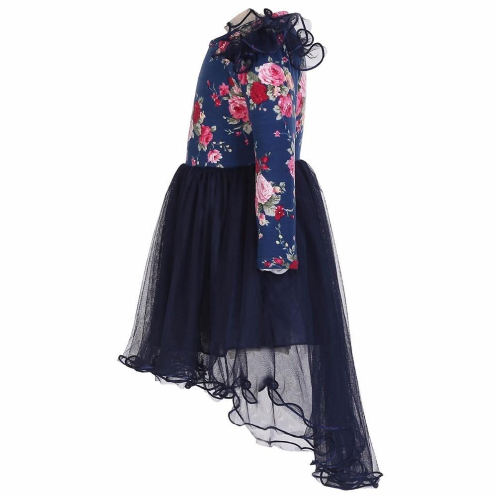 Kleinkind Blume Mädchen Kleid Langarm Hochzeitskleid Spitze Für ...
