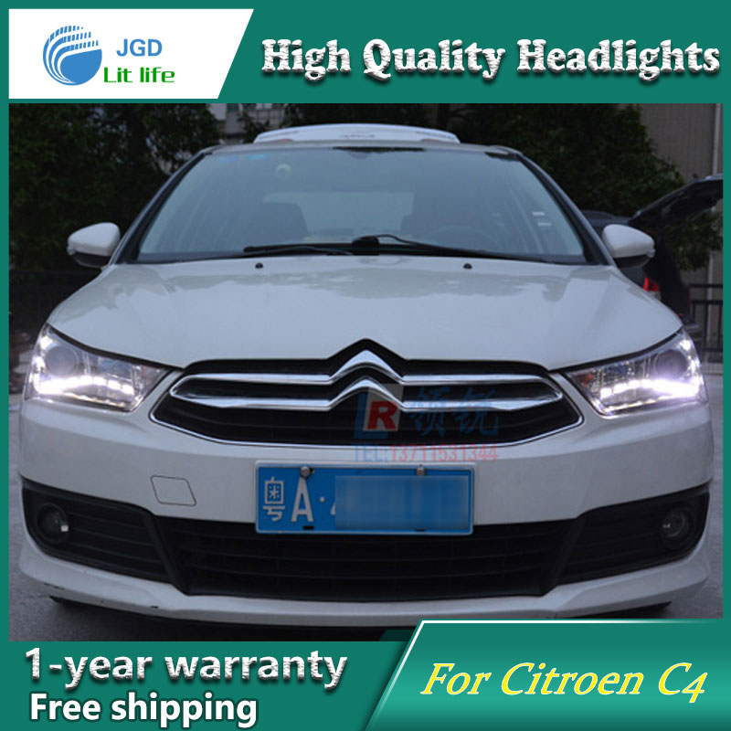 high quality Car styling case for Citroen Quatre C4 2012-2017 Headlights LED Headlight DRL Lens Double Beam HID Xenon high quality car styling case for mitsubishi lancer ex 2009 2011 headlights led headlight drl lens double beam hid xenon