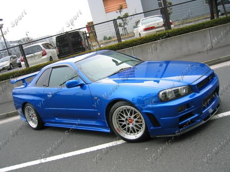 1999-2002 Nissan Skyline R34 GTR Nismo Z-Tune Style Side Skirts New Mould FRP (12)