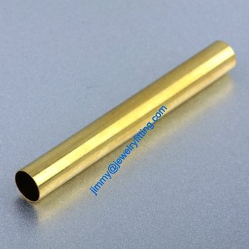 Brass Tube Conntctors Tubes jewelry findings 6*50mm ship free 1000pcs copper tube Spacer beads