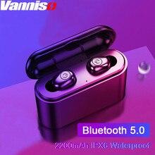 Vanniso TWS CVC8.0 Wireless Earbuds Bluetooth Earphones Mini Waterproof IPX 6 Headfrees with 2200mAh Power Bank For Smartphones