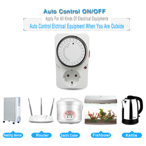 Image 3 - EU/US/UK Plug Electronic Mechanical Timer Socket Energy Saving 24 Hours intelligent home Protector Certification by CE ROHS GS
