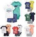 Горячие продать короткий набор для Мальчиков Одежда Устанавливает 6-24 Месяцев Next Летний Стиль Детская Одежда Набор Roupa Infantil Bebes Детей наборы