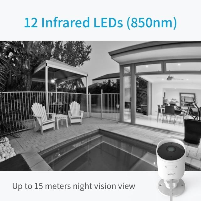 YI Outdoor Camera surveillance camera IP-65 Water-Resistant Housing Cam Night Vision Human Detection Security Camera 5