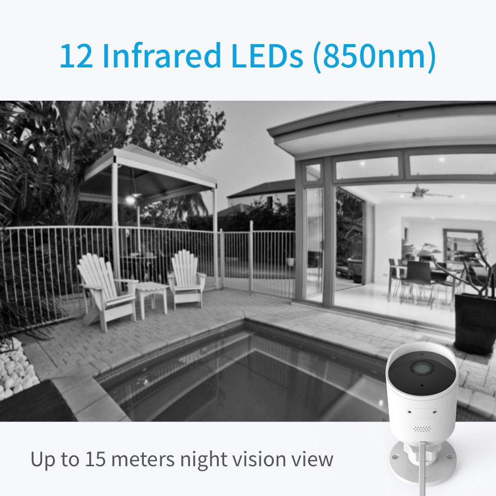 Image 3 - YI Outdoor Security Camera SD Card Slot &Cloud IP Cam Wireless 1080p Waterproof Night Vision Security Surveillance System White-in Surveillance Cameras from Security & Protection