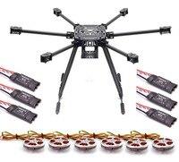 ZD850 Full Carbon Fiber 850mm Hexa Rotor Frame 5010 360KV Motor 40a Brushless OPTO ESC Set