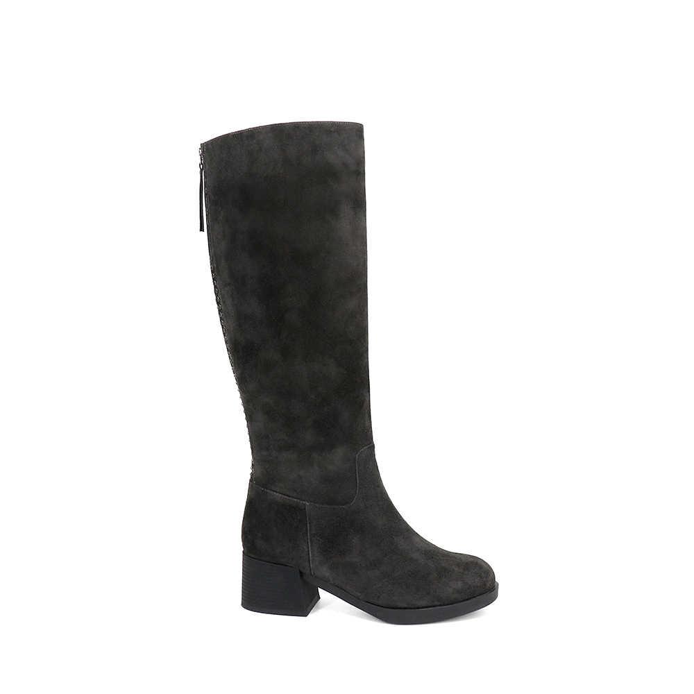 SOPHITINA yeni moda kadın botları diz yüksek hakiki deri sıcak peluş el yapımı ayakkabı nefes kaliteli klasik botlar BA10