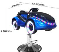 Shining children hair chair cartoon car chair barbershop baby hair chair four wheel .