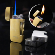 Тип два Флама факел турбо Зажигалка Синий Пламя Электронная зажигалка газовая зажигалка бутан мини сигарета зажигалки подарок