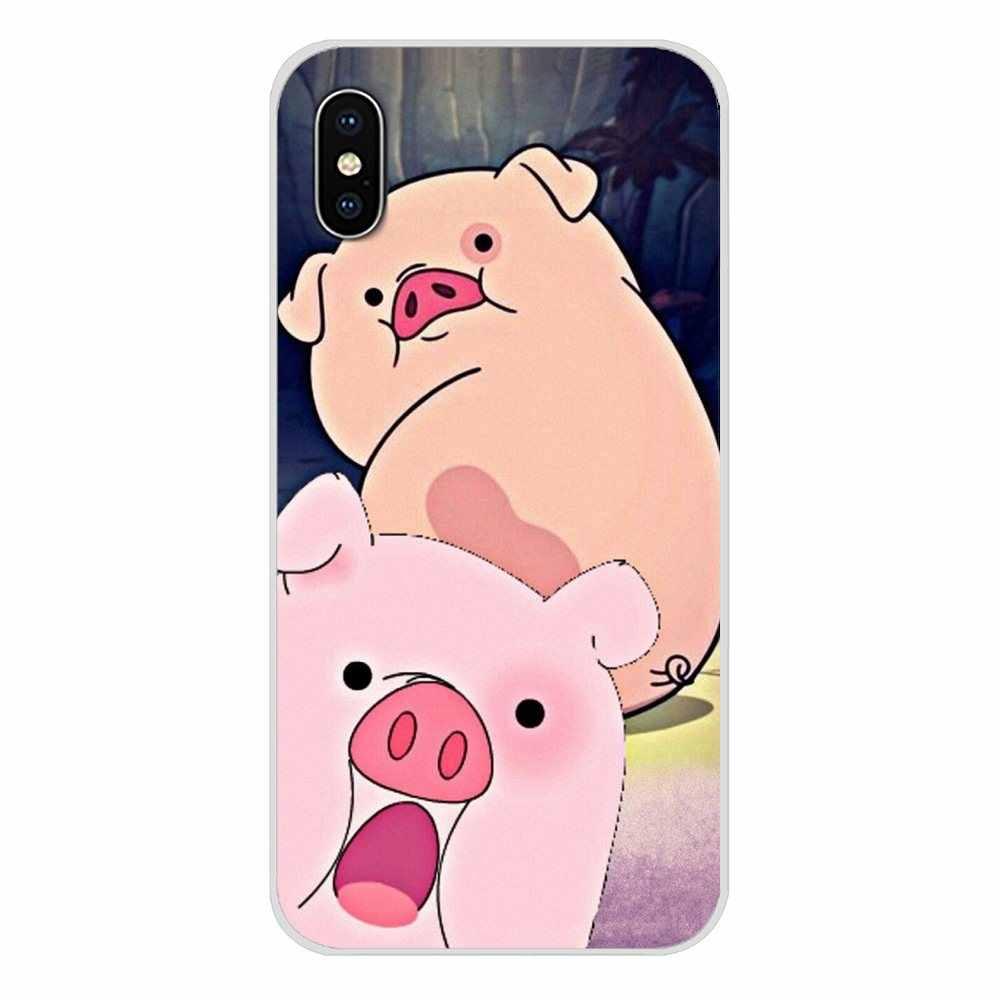 Samsung Galaxy A3 A5 A7 J1 J2 J3 J5 J7 2015 2016 2017 Karikatür Anime Yerçekimi Falls domuz Aksesuarları telefon Kılıfları Kapakları