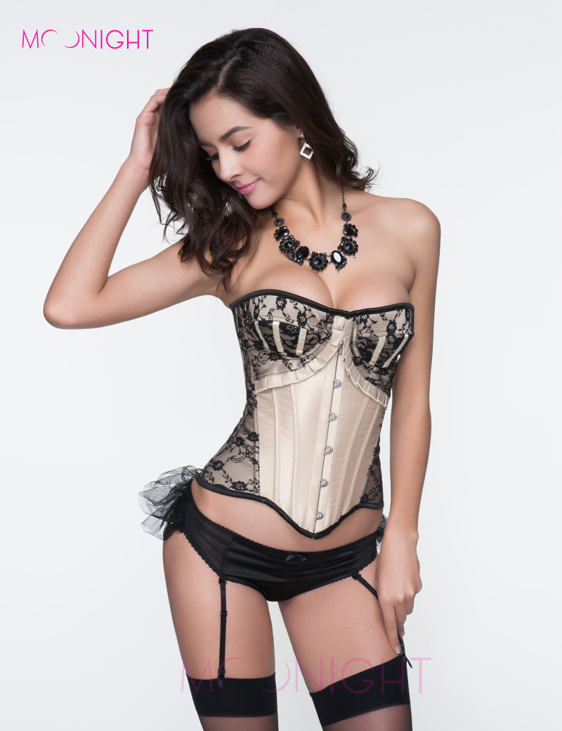 MOONIGHT Overbust Body Shaper Corpete espartilho Corset Top Waiste Corsets and Bustiers Corselet