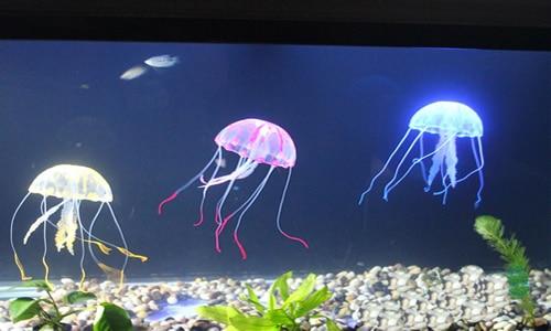 Glowing Effect Vivid Jellyfish for Aquarium Fish Tank Pool Ornament Decoration