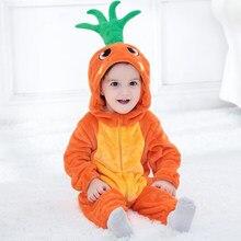 484becc3d Zanahoria bebé Kigurumi pijama recién nacido Ropa Anime mameluco infantil  bebé lindo perro Animal Cosplay traje