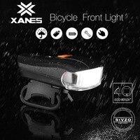 OUTERDO 5 Modes USB Charging Bicycle German Standard Smart Sensor Warning Light Flashlight Waterproof Bike Front