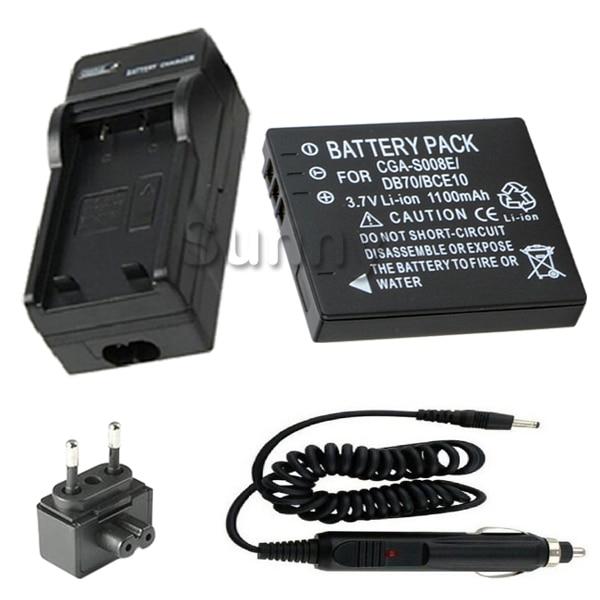 Battery Charger for Panasonic Lumix DMC FS3 DMC FS5 DMC FX30 DMC FX33 DMC FX55 DMC