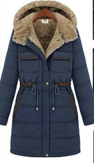 ФОТО Winter New Arrival Fashion Slim Wadded Overcoat Women Thick Liner Medium-Long Cold-Proof Cotton-Padded Jacket Outerwear N896