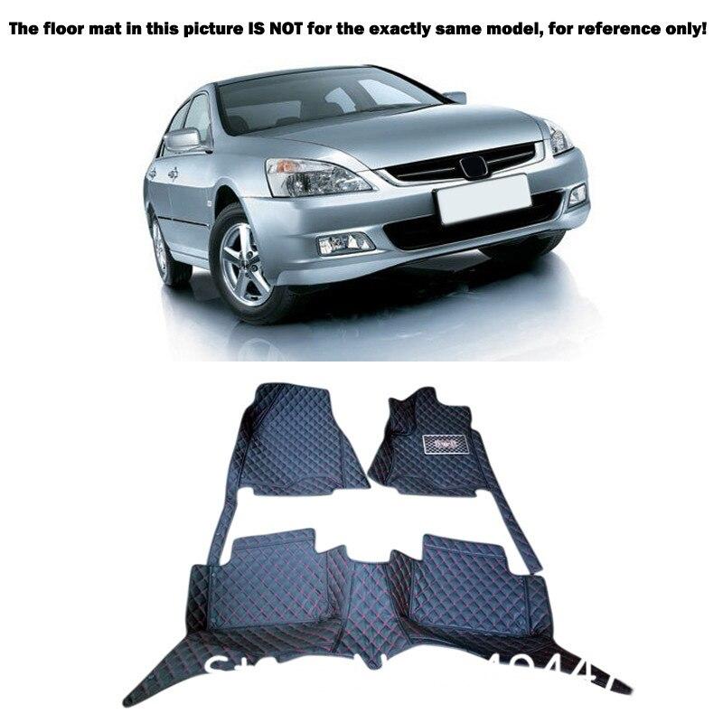 Interior Leather Custom Waterproof Car Styling Auto Floor Mats & Carpets Pads For Honda Accord 2004 2005 2006 2007