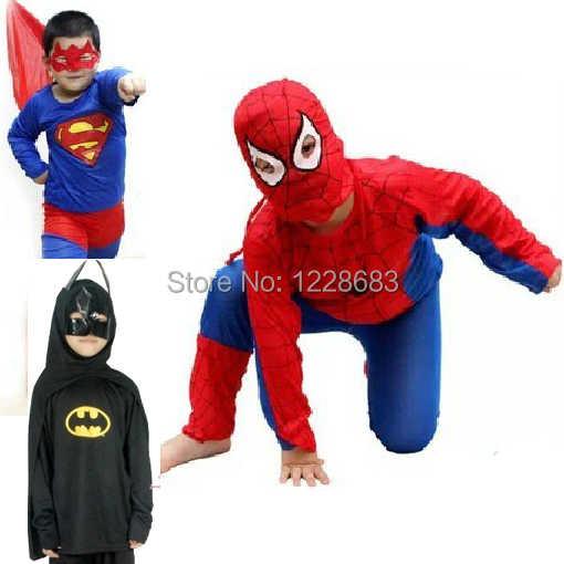 dd25d16874c18 Fantasia Kids Halloween Superhero Superman Batman Spiderman Vestidos De  Festas Artigos Para Festa Infantil
