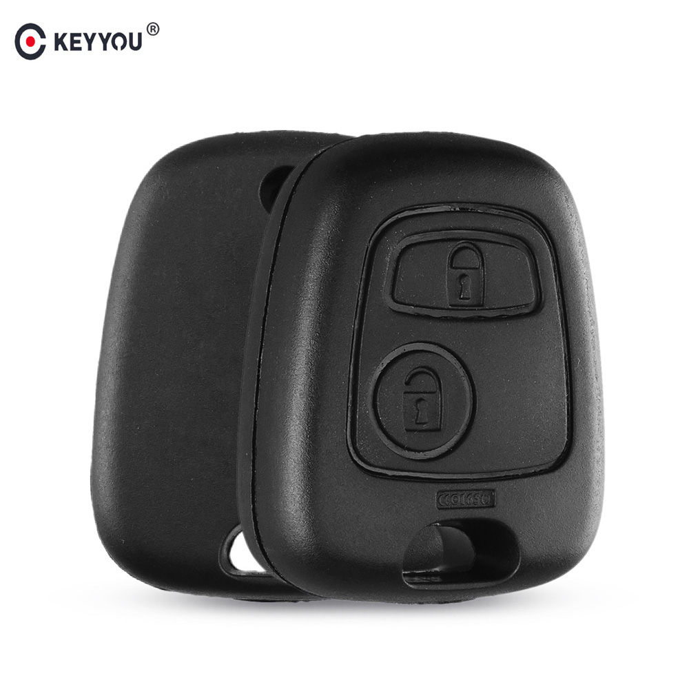 KEYYOU No Blade 2 Button Remote Key Car Key Fob Case Replacement Shell Cover For Peugeot 307 107 207 407 With LogoKEYYOU No Blade 2 Button Remote Key Car Key Fob Case Replacement Shell Cover For Peugeot 307 107 207 407 With Logo