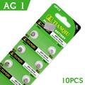 10 Pcs/1 cartão 364 164 LR621 Ag1 SR621 Célula Tipo Moeda Baterias de Proteção Ambiental 364A Tamanho 6.8*2.1mm Para