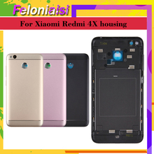 For Xiaomi Redmi 4X Back Battery housing Cover Metal Camera Glass Side Keys Rear Housing Redmi 4X Battery Door Case Replacement luanke 3d relief kickstand cover case for xiaomi redmi 4x