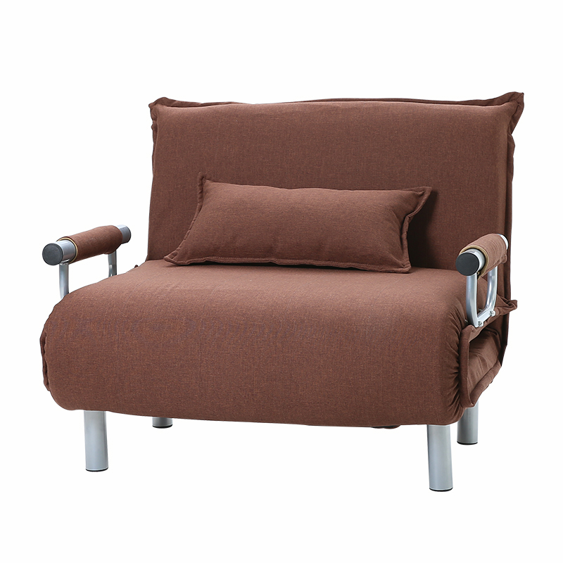 Folding Futon Sleeper Couch Sofa Bed Leisure Living Room Furniture Convertible Sofa Bed 5 Position Reclining Back Futon Armchair image
