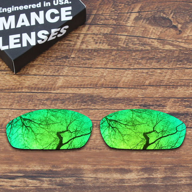30d772cffb402 ToughAsNails Polarized Replacement Lenses for Oakley Blender Sunglasses  Green Mirrored Color (Lens Only)