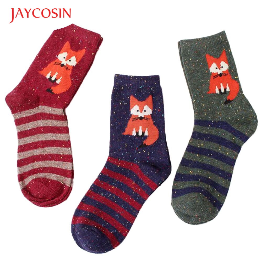 New Fashion  Coolbeener fashion Womens Animal Printed Casual striped Socks best selling dec29 Drop Shipping