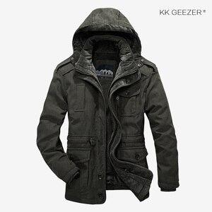 Image 3 - Winter Jacket Men Parkas Top Warm Waterproof Big Size Thicken Male Heavy Wool 2 in 1 Coat High Quality Fleece Cotton Padded