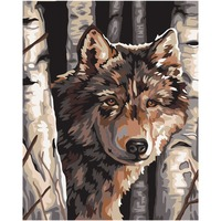 Frameless Pictures DIY Painting By Numbers Wolf Animals Oil Painting Hand Painted Acrylic Painting Home Decoration