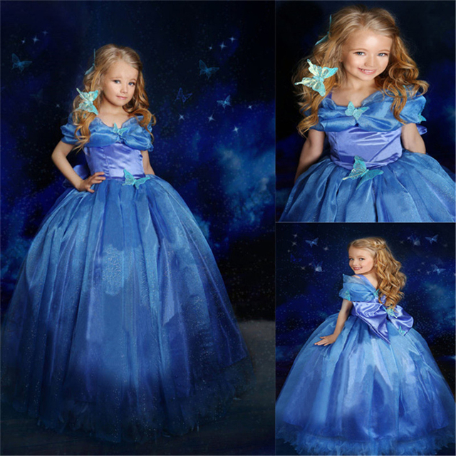 Inverno o Vestido da menina Meninas Roupas Princesa Cinderela Vestido de Noiva Dia Das Bruxas Natal Traje Da Borboleta Das Meninas Vestidos de Baile