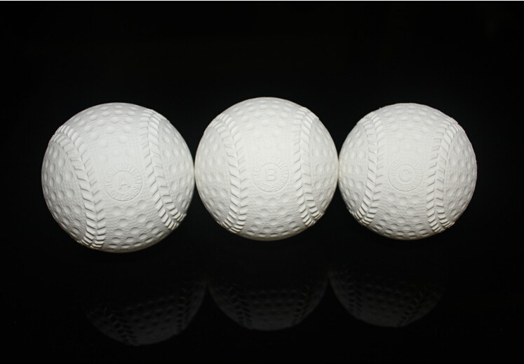 1 piece Beginner Rubber soft safety baseball ball for child young men women training safe 3 size to choice