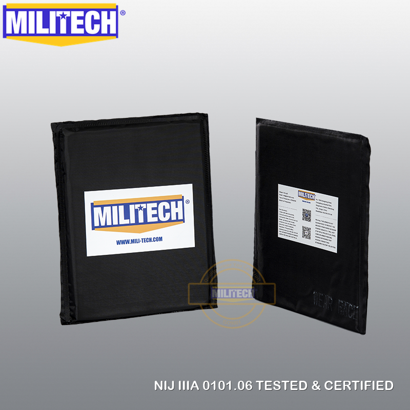 MILITECH 6 '' x 8 '' Par Aramid Ballistic Panel Bullet Proof Plate Inserts Body Armor Soft Side Armor Panel NIJ Level IIIA 3A