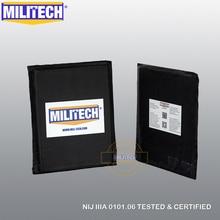 "MILITECH Ballisticแผงกระสุนแผ่นแทรกด้านข้าง 6 ""x 8"" คู่NIJระดับ 3A & NIJระดับ 0101.07 HG2 Aramidนุ่มเกราะ"