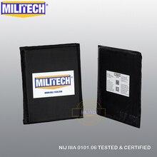 "MILITECH Ballistic Panel BulletProof Plate Side Insert 6"" x 8"" Pair NIJ Level 3A & NIJ 0101.07 Level HG2 Aramid Soft Body Armor"