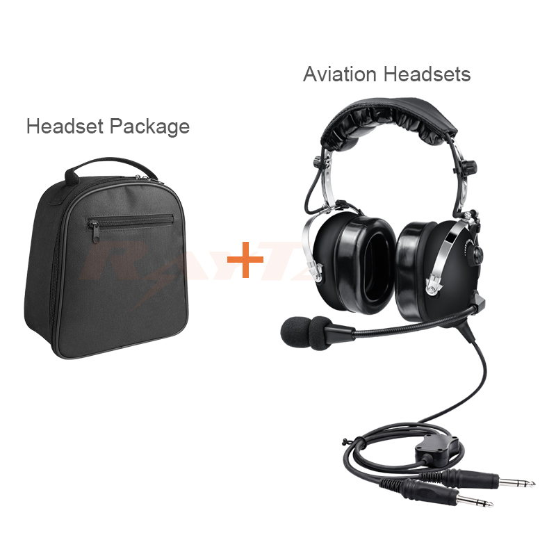 Noise Cancelling Aviation Headset PNR With Dual Plugs For Pilot +headset Bag, Free Shipping DHL