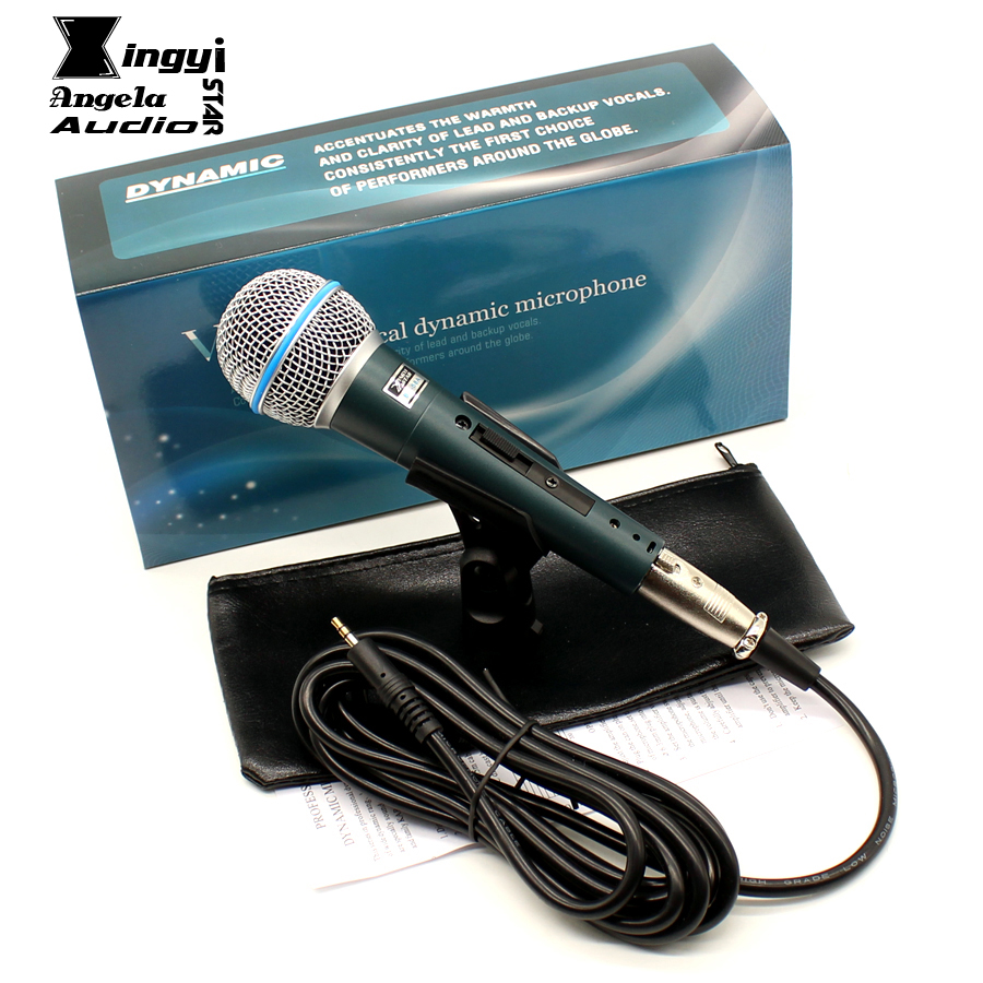 BT58A Professional Cardioid Vocal Dynamic Wired Microphone For Computer Stage Singer BETA 58A BT 58A NO/OFF Switch Karaoke Mic блокнот printio ташизм